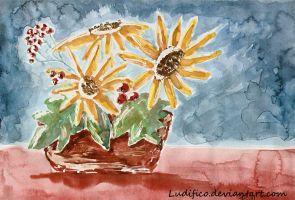 Composition with yellow flowers by Ludifico