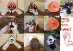 heads and molds FOR SALE by AlieTheKitsune