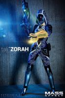 Tali'Zorah cosplay by Nebulaluben