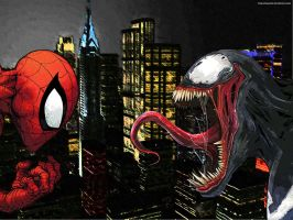 Spidey vs Venon by zanardo