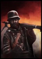 Machine gunner by anderpeich
