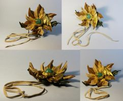 Flower dragon  hairpin-brooch by kessan