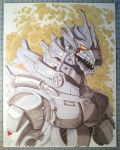 Mecha Godzilla Marker Sketch by Mecha-Zone