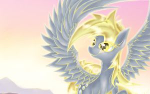 Derpy Sunrise Portrait by lightf4lls