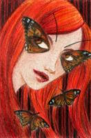 ACEO: Butterfly Girl by LaraInPink