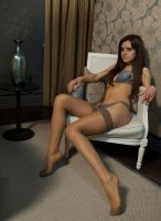 Lily09 Lingerie Reclined by EngagingPortraits