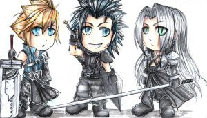 FFVII: Chibis . by DarkLitria