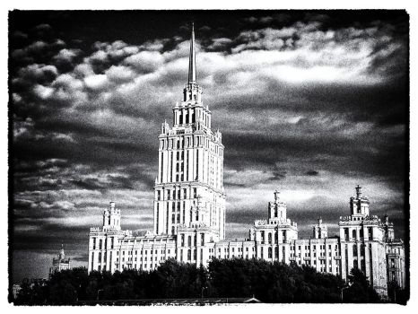 Moscow black and white old style postcard ala)) by ubinko