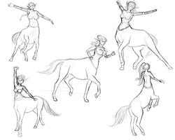 Centaur Sketches by Moonlight-pendent13
