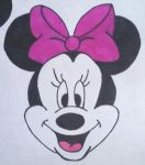 Minnie Mouse  (sharpie wip ) by LudeMagik