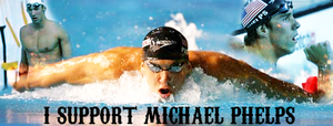 I Support Michael Phelps by girlnpurple88