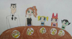 Thanksgiving with the Powerpuff Girls by PPGandJessie