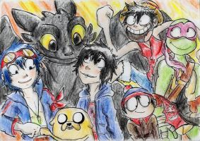 a Group of personalities [For BanzaiLuffy] by Hukkis