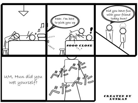 My first ever PC comic strip by luskan