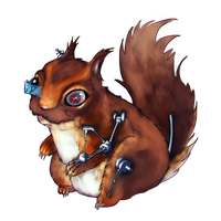 Cyborg Squirrel by Pupsie