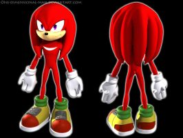 Knuckles 3d by one-dimensional-man