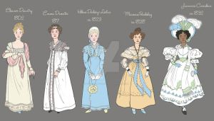 Detail of Timeline of Spring Fashion: 1802-1832 by a-little-bit-lexical