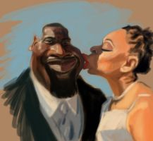 Newly Weds WIP by DoodleArtStudios
