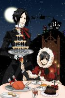 Sebastian And Ciel Christmas by Sebastianmichaelis0