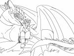 HTTYD:WAOTD-You Big Softy lineart by ShardianofWhiteFire