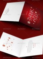 Christmas Thank You Card Template by loswl