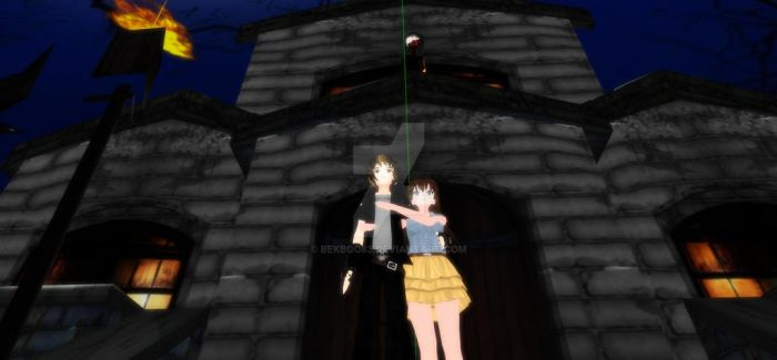 MMD Haunted Scare by bekboo83