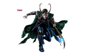 Loki Laufeyson The Avengers by Vionas