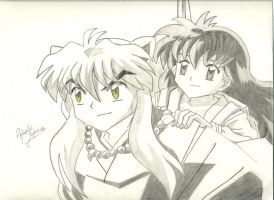 Inuyasha and Kagome by andrea-steph