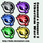 CnC3 Tiberium Wars Icons by BeBz