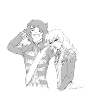 Oscar and Andre doodle by Lady-Liara