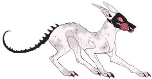 Lesser-Hound Adoptable by Errored-Adopts