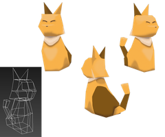 Cat Low-poly by Paulo60379