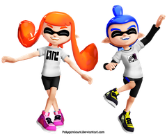 Inkling Boy and Girl MMD Models by PolygonCount