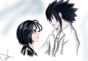 Rukia and Sasuke by LumosM