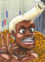 Ruby Rhod ATC by Neillustrations