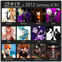 Art Summary [2013] by 13r-e