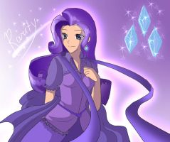 Rarity human form by AngelofHapiness