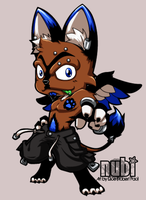 first anthro chibi commission by kapao