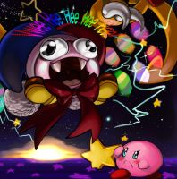 Kirby Super Star: Kirby v Marx by elazuls-core