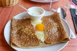 Crepe with camembert cheese by patchow