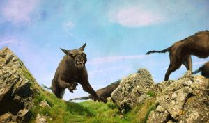 Warg Chase by AnnieHyena