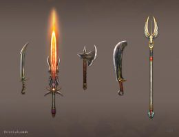 Weapon Set1 Version2 by PigeonKill