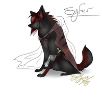 Syfer a new wolf character by Lurker89