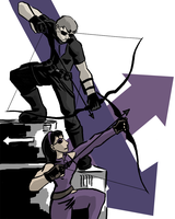 Hawkeye and Hawkeye by dragonsong12