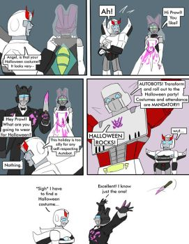 TF: Halloween Costumes Page 1 by Ty-Chou