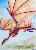 Flying Red - ACEO by LeccathuFurvicael