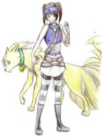 Trainer and her Ninetails by onewithrussia