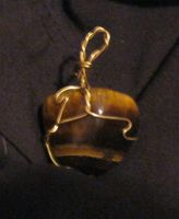 wire wrap tigers eye by Galasdian