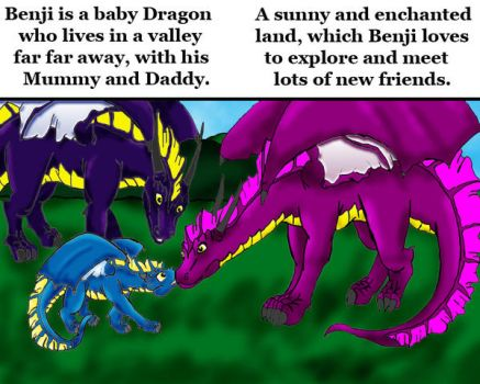 Benji the baby dragon page 1-2 by AuleulleGreyWolf