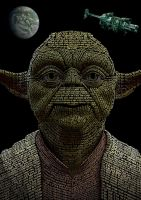 Yoda made of text by elic22